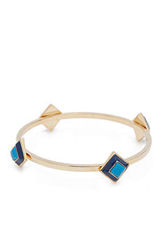 Trina Turk Gold-Tone Pyramid Bangle Bracelet