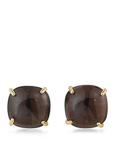 Trina Turk Gold-Tone Retro Mod Topaz Clip Earrings