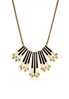 Trina Turk Black and Gold-Tone Statement Necklace
