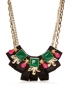 Trina Turk Ribbon and Stone Statement Necklace