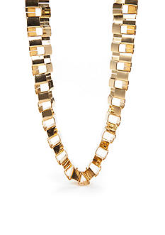 Trina Turk Gold-Tone Square Link Collar Necklace