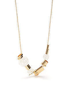 Trina Turk Mix Shape Frontal Gold-Tone Necklace