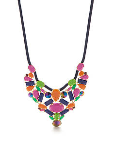 Trina Turk Gold-Tone Multi-Colored Statement Necklace