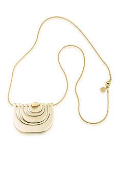Trina Turk Gold-Tone Retro Mod Pendant Necklace