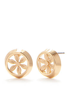 Trina Turk Gold-Tone Flower Openwork Stud Earrings