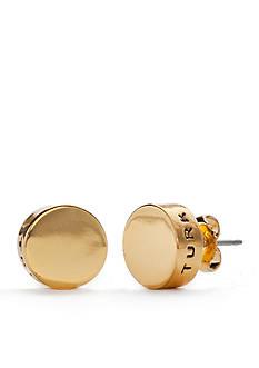 Trina Turk Round Gold-Tone Stud Earrings