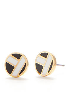 Trina Turk Gold-Tone Enamel Stud Earrings