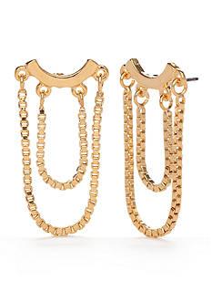 Trina Turk Gold-Tone Chain Drop Earrings