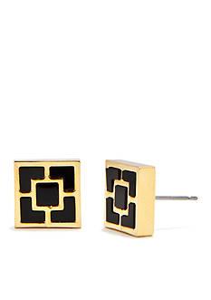 Trina Turk Black Geometric Stud Earrings