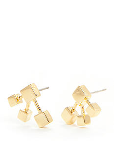 Trina Turk Gold-Tone Geometric Stud Earrings