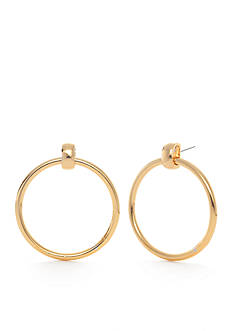 Trina Turk Gold-Tone Large Drop Hoop Earrings