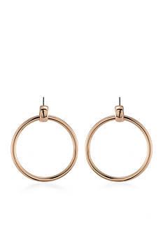 Trina Turk Rosegold Recolor Doorknocker Pierced Earrings