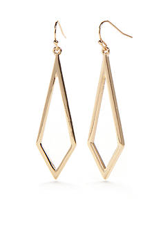 Trina Turk Diamond Shaped Gold-Tone Earrings