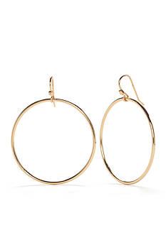 Trina Turk Gold-Tone Drop Hoop Earrings