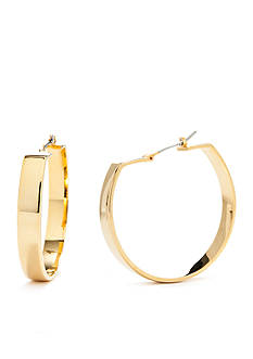 Trina Turk Large Wide Hoop Gold-Tone Earrings