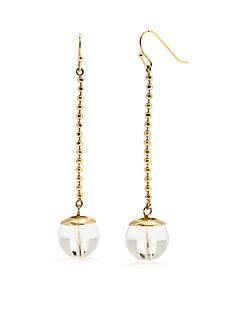 Trina Turk Linear Ball Drop Earrings