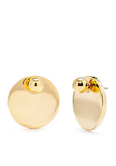 Trina Turk Gold-Tone Stud With Disc Jacket Earrings