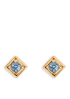 Trina Turk Gold-Tone Going Geo Small Square Stud Earring