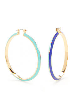Trina Turk Mod Moments Large Hoop Earrings