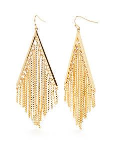 Trina Turk Raver Kite Fringe Earrings