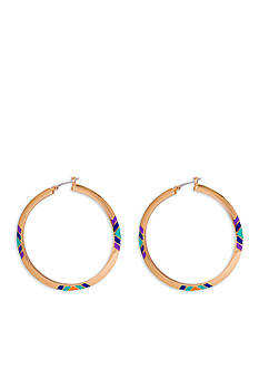 Trina Turk Gold-Tone Free Spirit Tribal Hoop Earrings