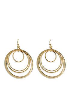 Trina Turk Gold-Tone Multi-Ring Drop Earrings