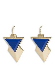 Trina Turk Gold-Tone Triangle Drop Earrings