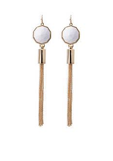 Trina Turk Gold-Tone Tassel Drop Earrings