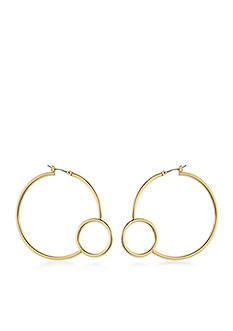 Trina Turk Gold-Tone Retro Mod Hoop Earrings