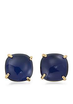 Trina Turk Gold-Tone Retro Mod Blue Button Earrings