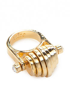 Trina Turk Moveable Disc Gold-Tone Ring