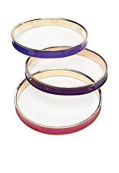 New Directions Purple Tonal Set of Three Bangles