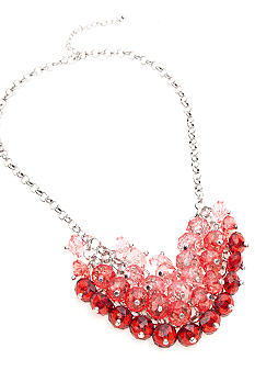 New Directions® Red Cluster Bib Necklace