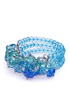 New Directions® Aqua Cluster Stretch Bracelet