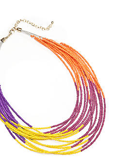 New Directions Color Block Seed Bead Necklace