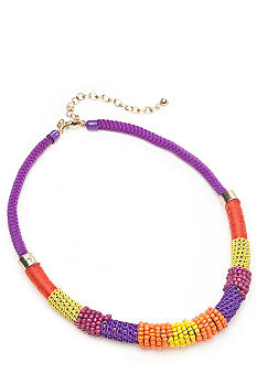 New Directions Multi Seed Bead and Cord Necklace