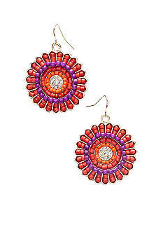 New Directions Round Seed Bead Drop Earrings