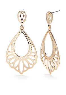New Directions Gold-Tone Natural Beauty Teardrop Earrings