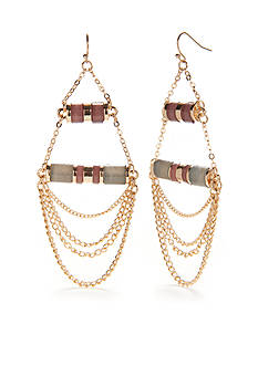 New Directions Gold-Tone Natural Beauty Chandelier Earrings