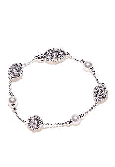Nadri Filigree in Pearl Bracelet