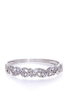 Nadri Open Work Cubic Zirconia and Crystal Bangle