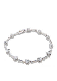 Nadri CZ Silver-Tone Bracelet