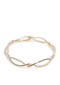 Nadri Gold-Tone Infinity Chain Bracelet