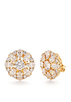 Nadri Gold-Tone Cubic Zirconia Cluster Clip Earrings