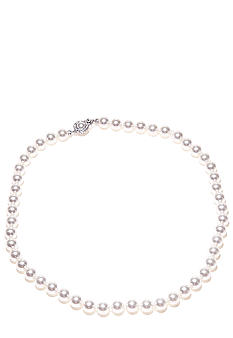 Nadri 8mm 18-in Pearl Framed Clasp Necklace