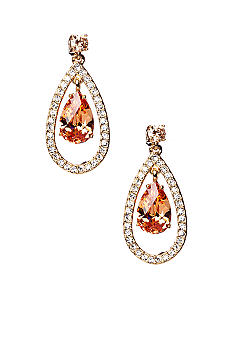 Nadri Floating Teardrop Post Earring