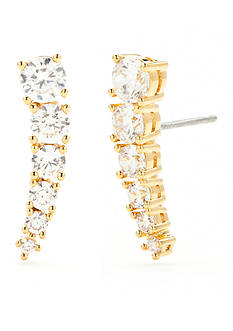 Nadri Graduated Cubic Zirconia East-West Stud Earrings