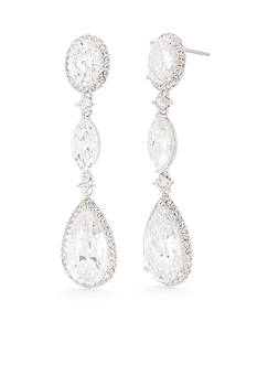 Nadri Oval Framed Drop Post Earring