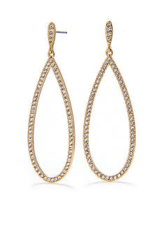 Nadri Crystal Pave Drop Gold-Tone Earring