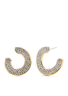 Nadri Honey Front and Back Hoop Earring